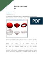 Configuracion de Glut en OpenGL