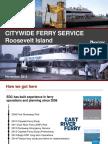 NYC EDC Roosevelt Island Ferry Presentation