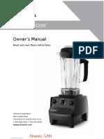 Vitamix 5200 Owner's Manual