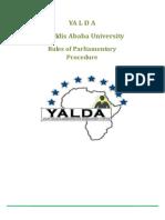 Model AU Parliamentary Procedure Send