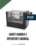 Ghost Gunner 2 Operator's Manual