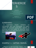 Slide Show on SUPERHeroes topic