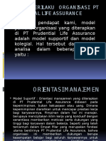 Model Perilaku Organisasi Pt Prudential Life Assurance [Autosaved]