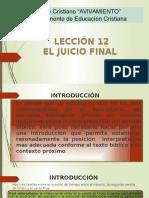 Leccion 12 El Juicioooo