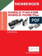 Schweisstabellen ROWELD P160 630B Plus 0416