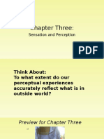 Psy101 - Chapter 3 - Sensation and Perception