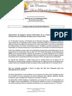 Compte Rendu Du Conseil Des Ministres -Mercredi 8 Mars 2017