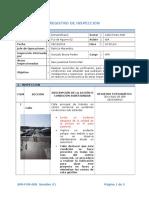 Registro de Inspección Paso Peatonal.