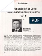 JL-89-January-February Lateral Stability of Long Prestressed Concrete Beams-Part 1