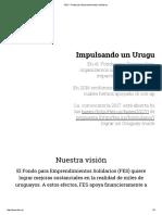 FES – Fondo Para Emprendimientos Solidarios