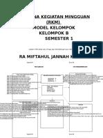 Rencana Kegiatan Mingguan (RKM) Kelompok B SemesteR 1.docx
