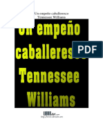 Un Empeño Caballeresco - Williams, Tennessee