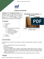 Metodología de La Investigación Documental