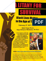 Litany for Survival-#BLM