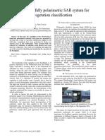 An L-band fully polarimetric SAR system for vegetation classification