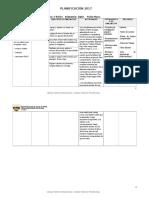 Planificacion 1ºBasico Ingles 2017