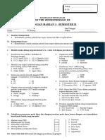 Ulangan Harian PKn Kelas VI