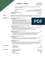 madeline shogren resume