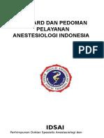 Standard Dan Pedoman Pelayanan Anestesiologi
