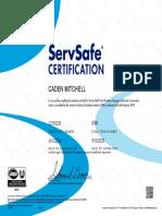 servsafe food protection management certification