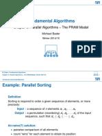 Lecture 3 Parallel Algorithms