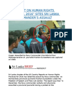 """US """"REPORT ON HUMAN RIGHTS PRACTICES, 2016  SITES SRI LANKA NAVY COMMANDER'S ASSAULT.docx"""