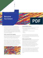 Resume Factsheet