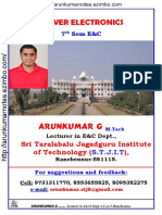 Power Electronics Notes by ArunKumar