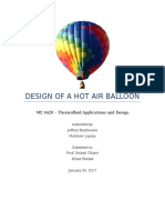 homework 1 - design of a hot air balloon