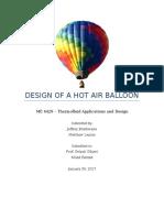 homework 1 - design of a hot air balloon