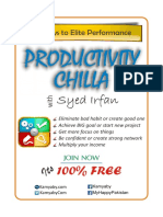 Productivity Chilla Brochure