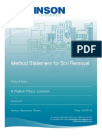 Methode Statment of Removal Soil