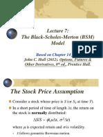 FinMath Lecture 7 Black-Scholes