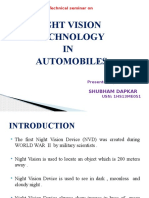 Night Vision Techonology in Automobiles
