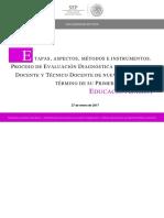 Etapas, Métodos y Aspectos Evaluación Diagnóstica 2017-2018
