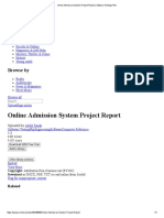 Online Admission System Project Report _ Software Testing _ Php