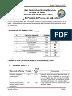 Puntaje de Practicas de Laboratorio de Fs 200 i 2017