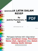 Bahasa Latin Dalam Resep