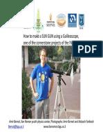 Galileoscope SunGun