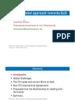 ITU and a Global Approach Towards QoS 2012