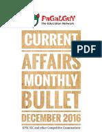 Current Affairs Monthly Bullet - Dec, 2016