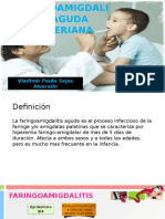 Faringoamigdalitis Aguda Bacteriana Vladimir Paulo Sejas Alvarado