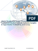 Global Residential Water Treatment Equipment Market Report (2016-2023)- Research Nester