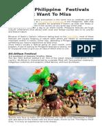 10 Fun Philippine Festivals