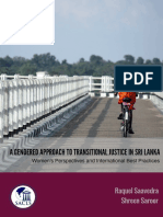 Gendered approach to Transitional Justice in Sri Lanka