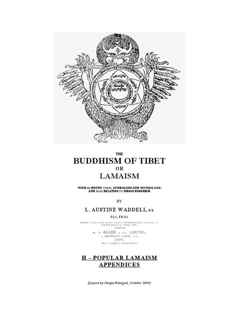 21118600 Waddell L A The Buddhism Of Tibet Or Lamaism Part Gpdf Sam Yun Wan Wisdom Ori Tibetan
