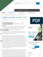 Www Circuitstoday Com Digital Voltmeter Using Icl7107