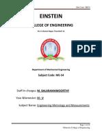 engineering metrology and measurements-libre