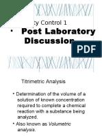 Post Laboratory Discussion Prelim
