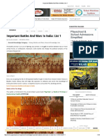 Important Battles and Wars in India_ List 1